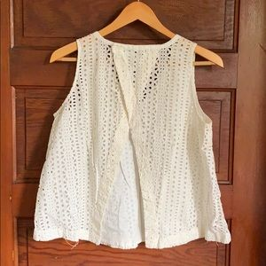 Madewell Tops - Madewell Eyelet open back top